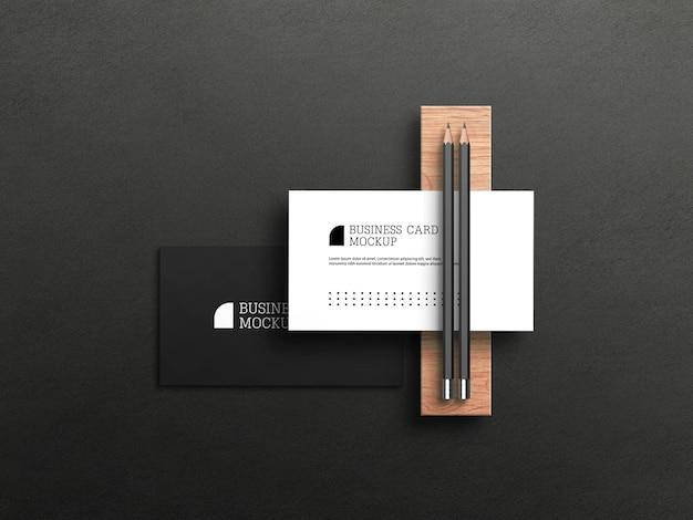 Maqueta de tarjeta de visita de lujo