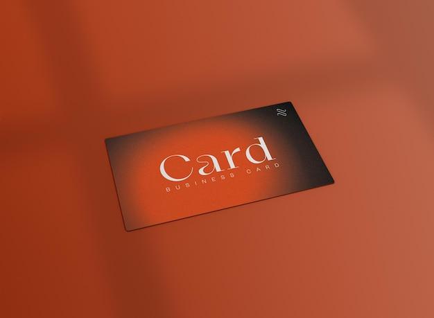 Maqueta de tarjeta de visita mínima 3d