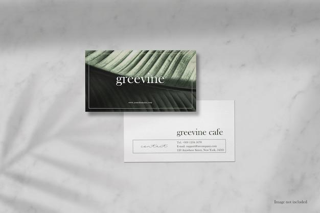 Maqueta de tarjeta de visita mínima limpia
