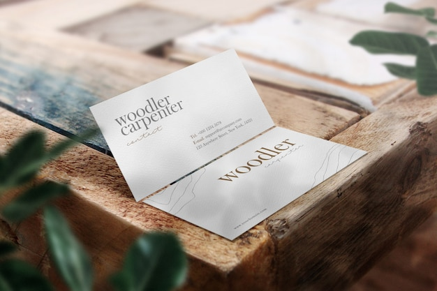 Maqueta de tarjeta de visita mínima