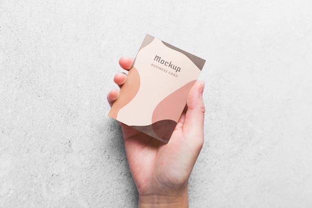 Maqueta de tarjeta de visita minimalista