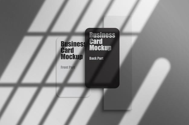 Maqueta de tarjeta de visita modelo psd