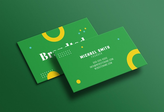 Maqueta de tarjeta de visita moderna limpia