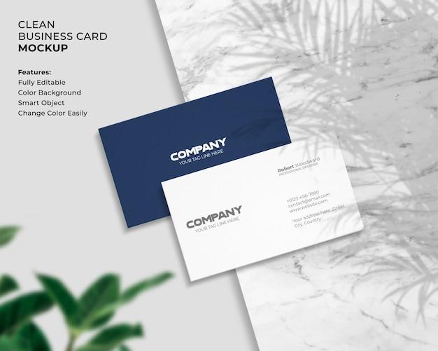 Maqueta de tarjeta de visita moderna y limpia
