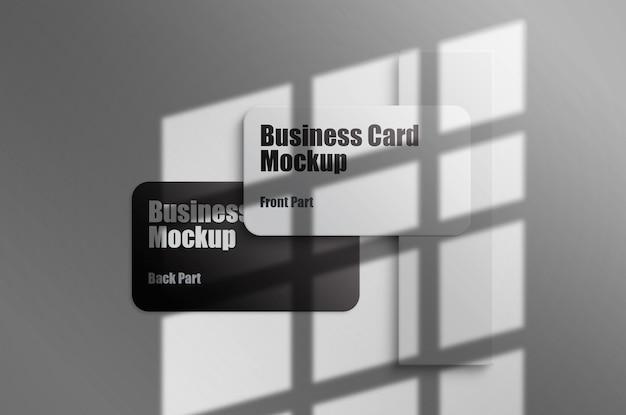 Maqueta de tarjeta de visita moderna modelo psd