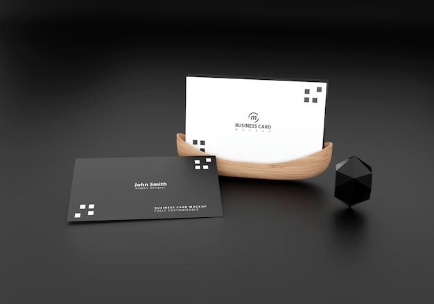 Maqueta de tarjeta de visita negra
