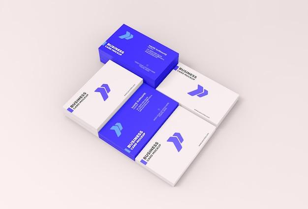 Maqueta de tarjeta de visita en papel
