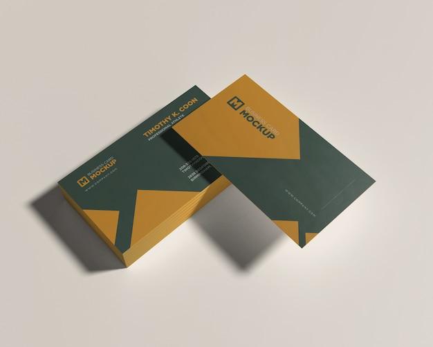 Maqueta de tarjeta de visita de pila