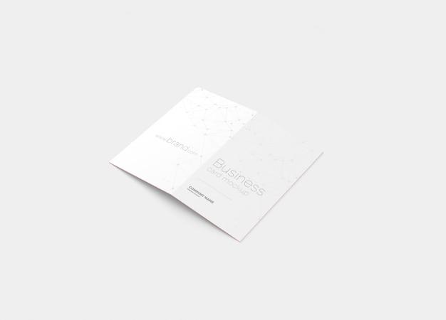 Maqueta de tarjeta de visita plegada