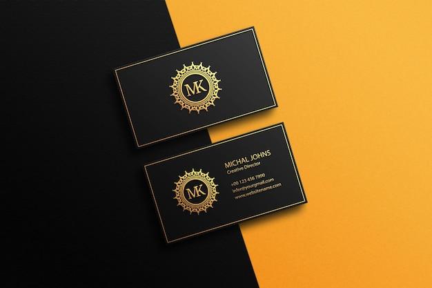 Maqueta de tarjeta de visita premium psd