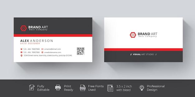 Maqueta de tarjeta de visita profesional