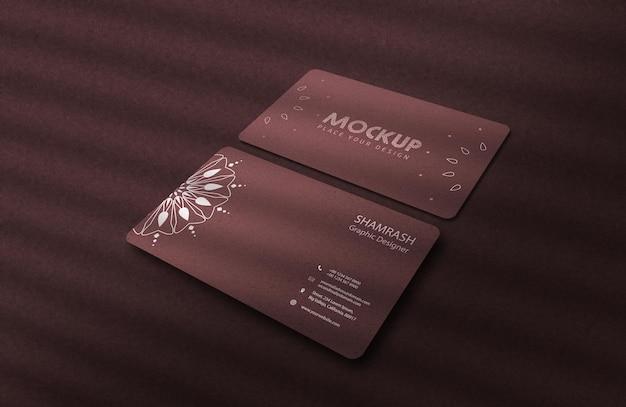 Maqueta de tarjeta de visita psd realista