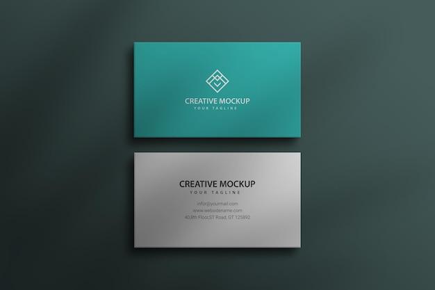 Maqueta de tarjeta de visita psd