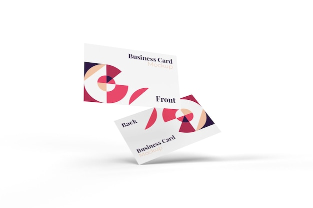 Maqueta de tarjeta de visita realista, útil y elegante
