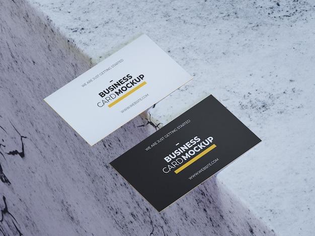 Maqueta de tarjeta de visita realista
