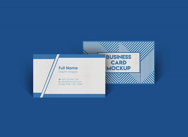 Maqueta de tarjeta de visita rectangular