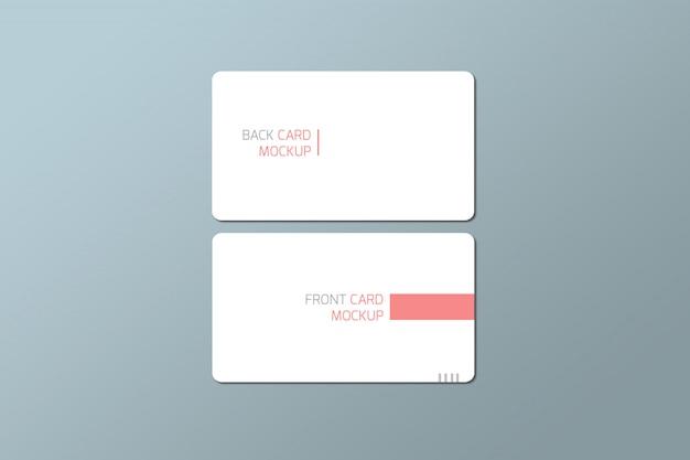 Maqueta de tarjeta de visita redonda