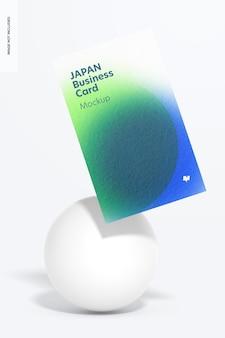 Maqueta de tarjeta de visita con retrato de japón, flotante