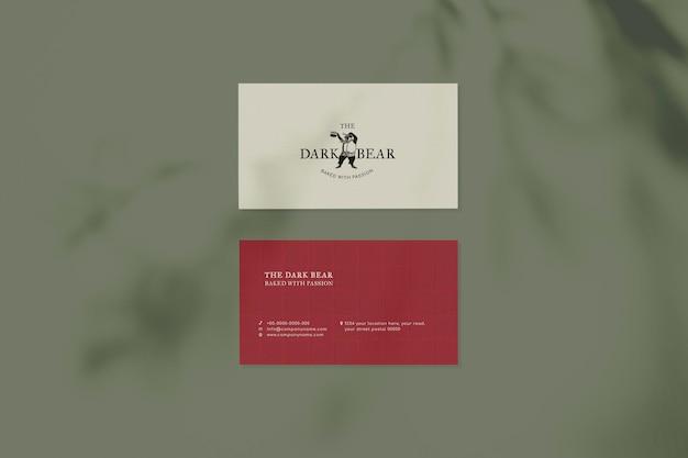 Maqueta de tarjeta de visita retro psd diseño de identidad corporativa