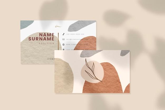 Maqueta de tarjeta de visita con sombras