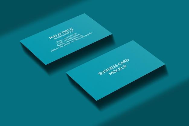 Maqueta de tarjeta de visita con superposición de sombras