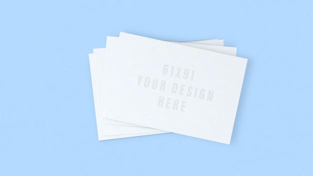 Maqueta de tarjeta de visita. tarjeta de visita blanca maqueta plantilla realista de diseño