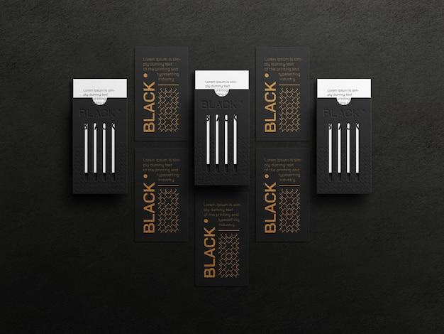 Maqueta de tarjeta de visita vertical de lujo con efecto de tipografía