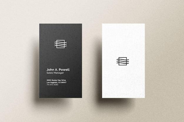 Maqueta de tarjeta de visita vertical