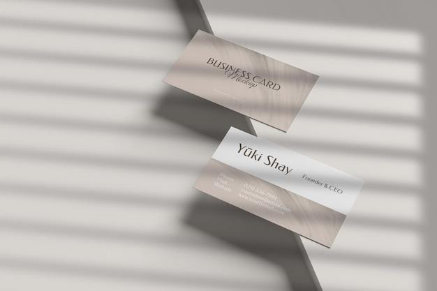 Maqueta de tarjeta de visita de visita minimalista