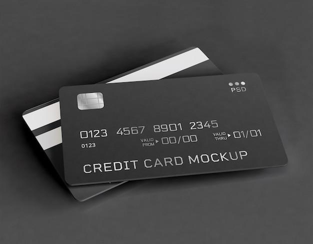 Maqueta de tarjetas de crédito