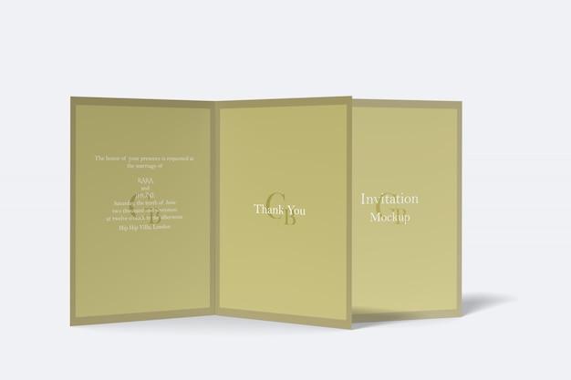 Maqueta de tarjetas de invitación