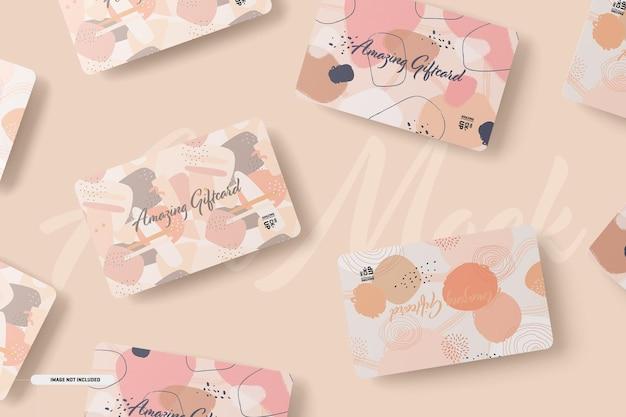 Maqueta de tarjetas de regalo