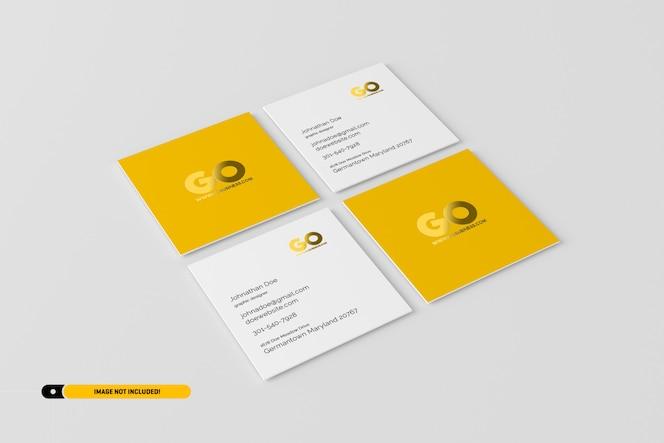 Maqueta de tarjetas de visita cuadradas