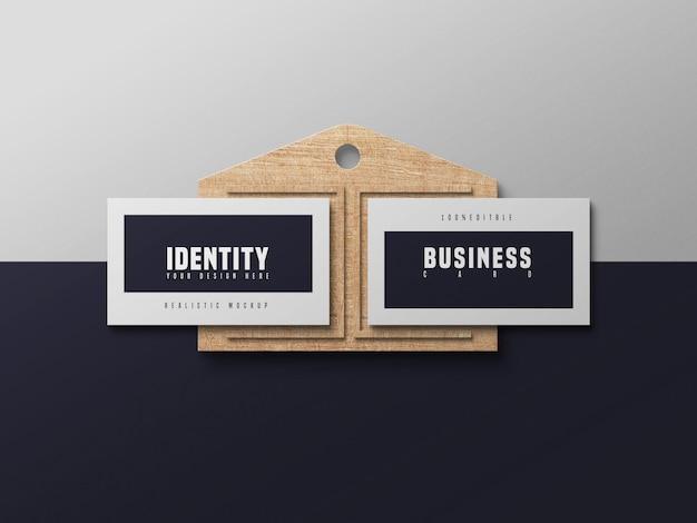 Maqueta de tarjetas de visita elegante