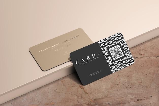 Maqueta de tarjetas de visita de esquina redondeada