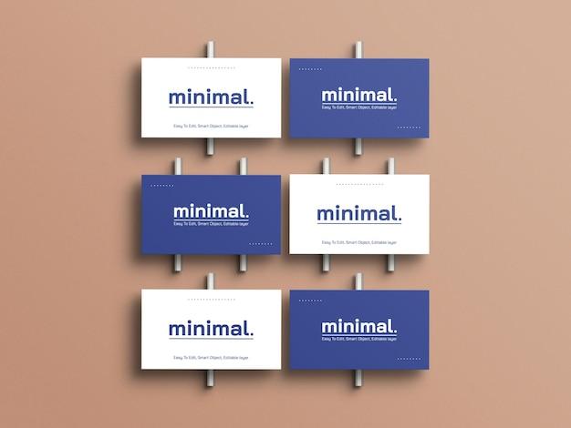 Maqueta de tarjetas de visita mínima