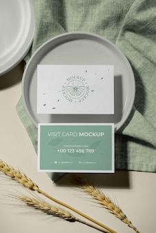 Maqueta de tarjetas de visita de patrón
