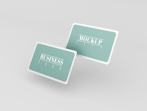 Maqueta de tarjetas de visita redondeadas