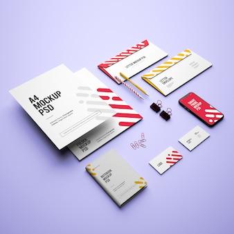 Maqueta con tarjetas de visita