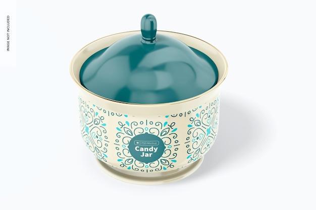 Maqueta de tarro de caramelo de cerámica