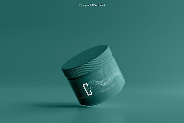 Maqueta de tarro cosmético de plástico