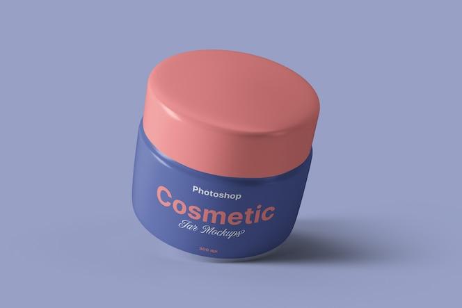 maqueta de tarro de crema cosmética