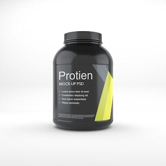 Maqueta de tarro de proteínas