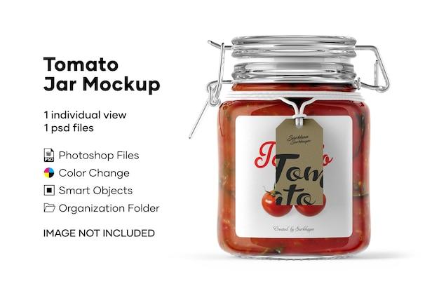 Maqueta de tarro de tomate