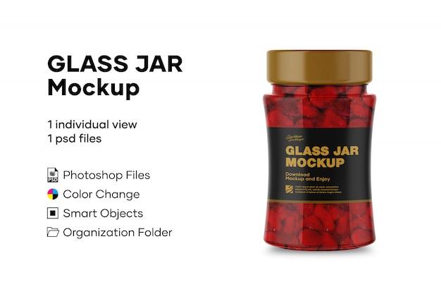 Maqueta de tarro de vidrio
