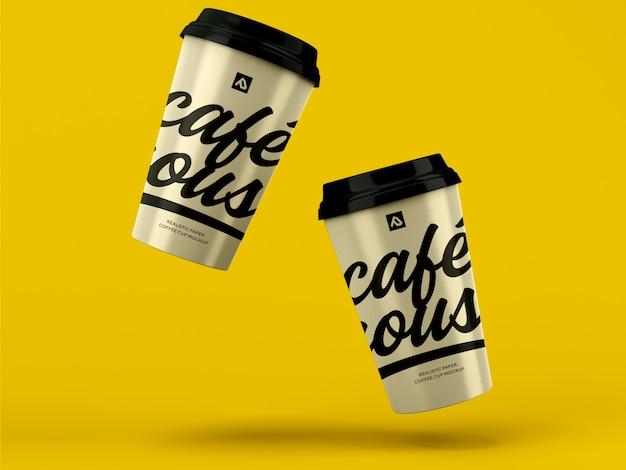 Maqueta de taza de café. envase de café para llevar