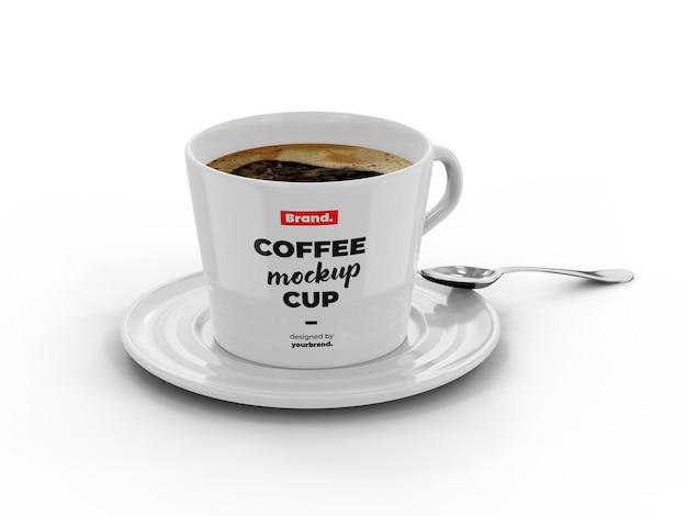 Maqueta de taza de café expreso