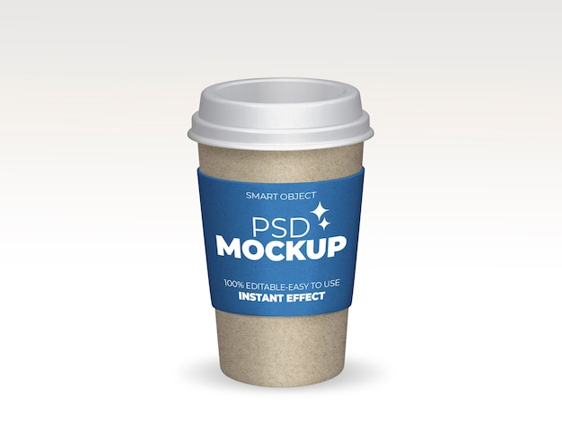 Maqueta de taza de café para llevar