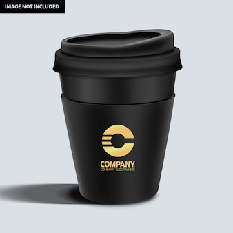 Maqueta de taza de café oscura