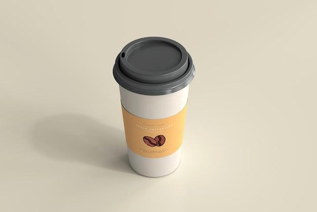 Maqueta de taza de café de papel de gran tamaño